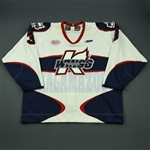 Polasek, Adam<br>White Set 1<br>Kalamazoo Wings 2012-13<br>#3 Size: 58