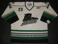 Tarnasky, Nick<br>White Set 1 - Game-Issued<br>Florida Everblades 2010-11<br>#23 Size: 56