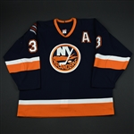 Aucoin, Adrian<br>Navy 1st Regular Season w/A<br>New York Islanders 2002-03<br>#3 Size: 56