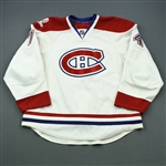 Kostitsyn, Sergei * <br>White Set 2, with 100th Anniversary Centennial patch, Photo-Matched<br>Montreal Canadiens 2009-10<br>#74 Size: 56