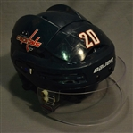 Brouwer, Troy<br>Blue, Bauer Helmet w/ Bauer Shield<br>Washington Capitals 2014-15<br>#20