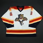 NOBR<br>White Preseason GI<br>Florida Panthers 2002-03<br>#6 Size: 56