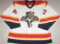 Lojek, Martin<br>White Set 1 - Preseason Only<br>Florida Panthers 2005-06<br>#47 Size: 56