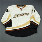 Brookbank, Sheldon * <br>White Set 1- Photo Matched<br>Anaheim Ducks 2008-09<br>#21 Size: 58
