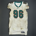 Soliai, Paul * <br>White, Video-Matched<br>Miami Dolphins 2011<br>#96 Size: 46