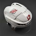 Boucher, Reid<br>White, CCM Helmet w/ Oakley Shield<br>New Jersey Devils <br>#12