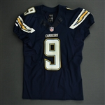Novak, Nick<br>Navy - worn November 23, 2014 vs. St. Louis Rams<br>San Diego Chargers 2014<br>#9 Size: 44 SKILL