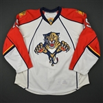 Moore, Dominic * <br>White Set 1  - Photo-Matched<br>Florida Panthers 2009-10<br>#81 Size: 56