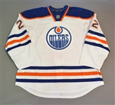 Aulie, Keith<br>White Set 3 - Game-Issued (GI)<br>Edmonton Oilers 2014-15<br>#22 Size: 58+