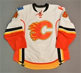 Bancks, Carter * <br>White -NHL Debut -Photo-Matched<br>Calgary Flames 2012-13<br>#11 Size: 54
