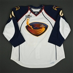 Little, Bryan * <br>White Set 2 w/All Star Patch (RBK 2.0)<br>Atlanta Thrashers 2007-08<br>#10 Size: 56
