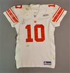 Manning, Eli * <br>White, w/ WTM-PRT Patch, Photo-Matched, with Silver Pants, Photo-Matched<br>New York Giants 2005<br>#10 Size: 50 LINE