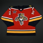 Huselius, Kristian * <br>Red Set 1- w/ All-Star patch - Photo-Matched<br>Florida Panthers 2002-03<br>#22 Size: 56