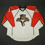 Clemmensen, Scott * <br>White set 1 - Photo-Matched<br>Florida Panthers 2009-10<br>#30 Size: 58+G