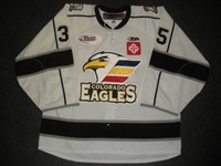 Plante, Tyler<br>White Set 1 w/ 10th Anniversary Patch<br>Colorado Eagles 2012-13<br>#35 Size: 58G