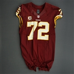 Bowen, Stephen<br>Burgundy worn December 3, 2012 vs. New York Giants w/C<br>Washington Redskins 2012<br>#72 Size: 48