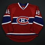 Briere, Daniel *<br>Red Set 4 - Playoffs  - Photo-Matched<br>Montreal Canadiens 2013-14<br>#48 Size: 52