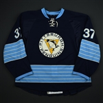 Strait, Brian *<br>Blue Alternate - Photo-Matched<br>Pittsburgh Penguins 2011-12<br>#37 Size: 58