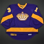 Jones, Martin *<br>Purple Vintage - Photo-matched to 1st Career Shutout <br>Los Angeles Kings 2013-14<br>#31 Size: 58G