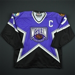 Chelios, Chris *<br>Purple - Western Conference w/C<br>NHL All Star 1996-97<br>#7 Size: 54
