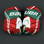 Brunner, Damian<br>Bauer Vapor APX Gloves (Retro Colors)<br>New Jersey Devils 2013-14<br>