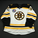 Beleskey, Matt *<br>White - Hockey Hall of Fame Game with NHL Centennial & HHOF Patches, November 10, 2017<br>Boston Bruins 2017-18<br>#39 Size: 56