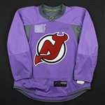 Blank - No Name or Number<br>Lavender Hockey Fights Cancer Warm-Up - CLEARANCE<br>New Jersey Devils <br> Size: 54