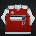 Sundin, Mats *<br>Red - World All-Stars - Autographed - Worn in the 1st period<br>NHL All Star 2000-01<br>#13 Size: 58
