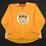 adidas<br>Yellow - Stadium Series Practice Jersey - Game-Issued (GI)<br>Washington Capitals 2017-18<br> Size: 58