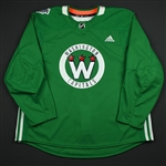 adidas<br>Green - Stadium Series Practice Jersey - Game-Issued (GI)<br>Washington Capitals 2017-18<br> Size: 58