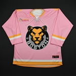 BLANK<br>Strides for the Cure (Game-Issued) - February 2, 2018 vs. Connecticut Whale<br>Boston Pride 2017-18<br> Size: LG