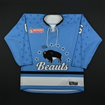 Sibley, Jessica<br>Blue Set 1<br>Buffalo Beauts 2017-18<br>#6 Size: MD