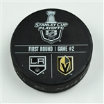 Vegas Golden Knights Warmup Puck<br>April 13, 2018 vs. Los Angeles Kings - 2018 Stanley Cup Playoffs - Round 1, Game 2 <br> 2017-18