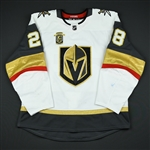 Carrier, William <br>White Set 3 w/ Inaugural Season Patch<br>Vegas Golden Knights 2017-18<br>#28 Size: 56