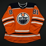 Auvitu, Yohann<br>Orange Set 3 <br>Edmonton Oilers 2017-18<br>#81 Size: 56