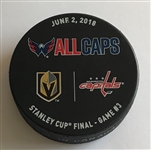Vegas Golden Knights Warmup Puck<br>2018 Stanley Cup Final, Game 3  - June 2, 2018 vs. Washington Capitals<br> 2017-18