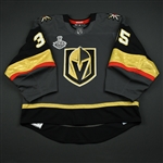 Dansk, Oscar<br>Gray Stanley Cup Final Set 1 - Game-Issued (GI)<br>Vegas Golden Knights 2017-18<br>#35 Size: 58G