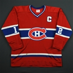 Cournoyer, Yvan *<br>Red<br>Montreal Canadiens 1978-79<br>#12 Size: 42