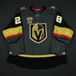 Carrier, William<br>Gray Stanley Cup Playoffs w/ Inaugural Season Patch - Worn in First Playoff Game in Franchise History<br>Vegas Golden Knights 2017-18<br>#28 Size: 56