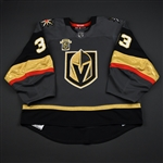 Lagace, Maxime<br>Gray Stanley Cup Playoffs w/ Inaugural Season Patch - Back-Up Only<br>Vegas Golden Knights 2017-18<br>#33 Size: 58G