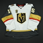 Merrill, Jon<br>White Stanley Cup Playoffs w/ Inaugural Season Patch - Worn in First Playoff Series in Franchise History<br>Vegas Golden Knights 2017-18<br>#15 Size: 56