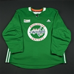 adidas<br>Green Practice Jersey w/ MedStar Health Patch<br>Washington Capitals 2017-18<br> Size: 58