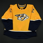 Bitetto, Anthony<br>Gold Set 2 <br>Nashville Predators 2017-18<br>#2 Size: 56