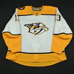 Bonino, Nick<br>White Set 2 <br>Nashville Predators 2017-18<br>#13 Size: 58