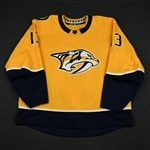 Bonino, Nick<br>Gold Set 3 / Playoffs <br>Nashville Predators 2017-18<br>#13 Size: 58