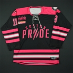 Levine, Michaela<br>Strides For The Cure - Worn December 3, 2016 vs. Connecticut Whale<br>Boston Pride 2016-17<br>#18 Size: MD