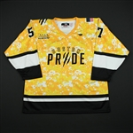 Mangene, Meagan<br>Military Appreciation - Worn November 29, 2015 vs. Connecticut Whale (Autographed)<br>Boston Pride 2015-16<br>#57 Size: L
