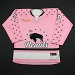 Donohue, Katherine<br>Strides for the Cure (Game-Issued) - January 20, 2018<br>Buffalo Beauts 2017-18<br>#20 Size: MD