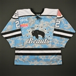 Parsons, Kayla<br>Camouflage Military Appreciation Day - November 13 Only<br>Buffalo Beauts 2016-17<br>#22 Size: 50