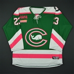 NNOB<br>Green- Strides For The Cure<br>Connecticut Whale 2016-17<br>#23 Size: MD